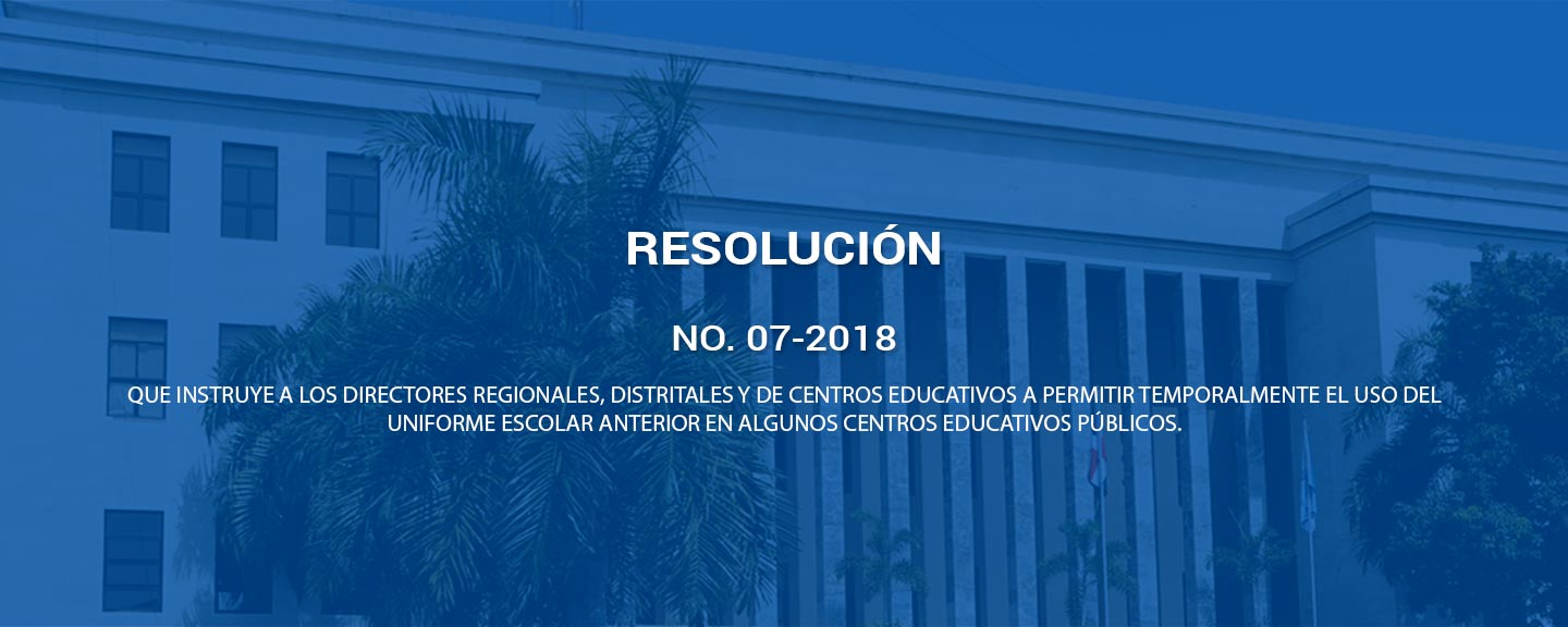 Resolución No. 07-2018