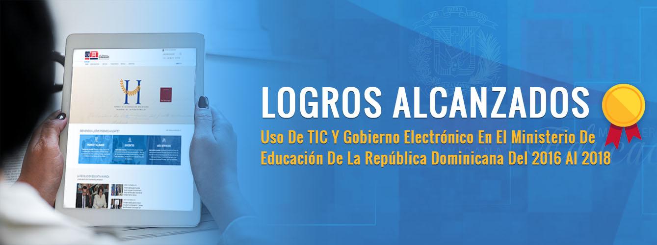 Logros Alcanzados. TIC´S Ministerio de Educación.