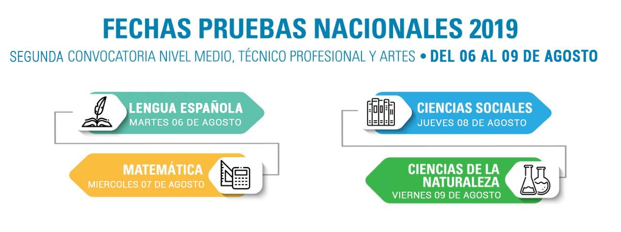 Segunda Convocatoria Nivel Medio, Técnico Profesional y Artes
