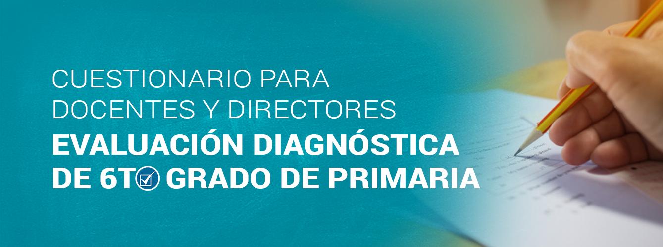 Cuestionario para Docentes y Directores. Evaluación Diagnostica 6to grado.