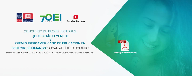 Convocatoria Concurso blog de lectores y Premio Iberoamericano de Educación en Derechos Humanos .