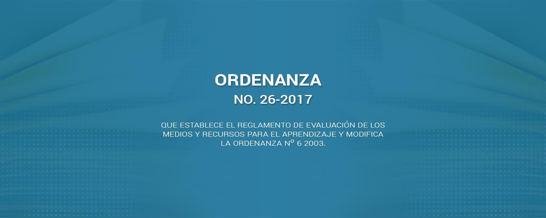 Ordenanza 26-2017