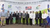 imagen Ministros de Educación y Cultura del Sica luego de Rueda de Prensa a los medios