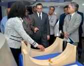 imagen Ministro Andrés Navarro junto a embajador de Japón en RD y miembros de su gavinete, recorren museo de Matemáticas