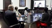 """imagen El ministro de Educación Roberto Fulcar se reunió este jueves con la embajadora de los Estados Unidos, Robin Berstein. En el encuentro virtual trataron temas relativos al inicio del año escolar 2020-2021 el próximo 2 de noviembre, y al plan """"Educación para Todos Preservando la Salud""""."""