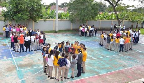imagen Estudiantes durante el simulacro
