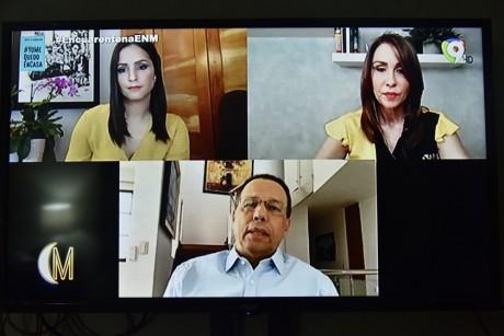imagen El ministro de Educación, Antonio Peña Mirabal durante video conferencia